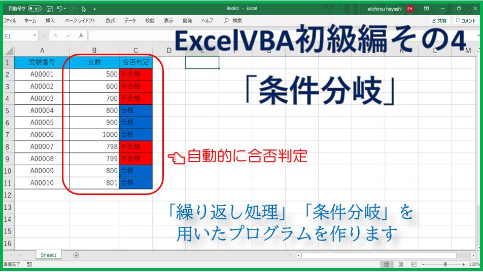 技術記事:ExcelVBAで仕事を効率化しようVol.4(VBA学習初級編)